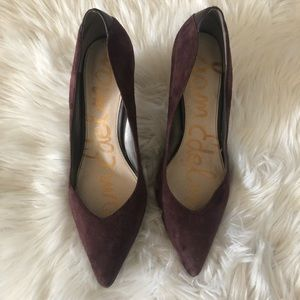 Sam Edelman point toe purple heels